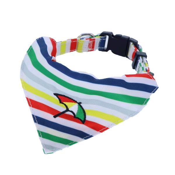 Arnold Palmer カラー スカーフ付 マルチボーダー柄
